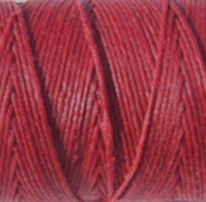 Crawford Waxed Irish Linen- 2-ply by UnCommon Artistry (5 yards, Country Red) (Waxed Cord 5 Linen Thread)
