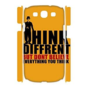 3D Positive Thoughts Samsung Galaxy S3 Cases Protector For Girls, Case For Samsung Galaxy S3 Mini For Women [White]