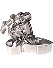 HYG Stainless Steel Cookie Cutter Set, Funny DIY Mold Cookie Mold Cutting Mold, Cartoon Baking Mold, Fondant Tool Pastry Biscuit Cake Baking Mould (Set of 4 pcs)