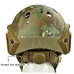 QZY Casque de Protection Airsoft Paintball ETS Casques Tactiques avec Masque de Maille en Acier Set de Jeux CS 8… 9