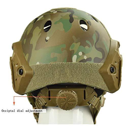 QZY Casque de Protection Airsoft Paintball ETS Casques Tactiques avec Masque de Maille en Acier Set de Jeux CS 8… 4