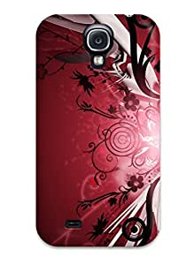 New Fashionable ZippyDoritEduard EDWHgjz2758VdZGh Cover Case Specially Made For Galaxy S4(pretty Flower And Red )