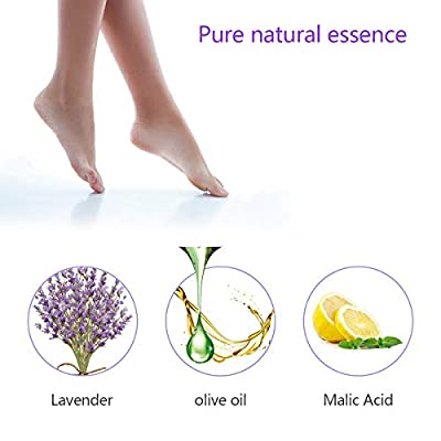 Foot Peel Mask 3 Pairs, Exfoliating Peeling Feet Mask Foot Spa for For Baby Smooth Soft Feet, Dry Dead Skin Natural Treatment, Repair Rough Heels, Callus Remover, Soak Socks Booties Lavender Scented
