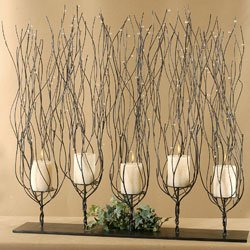 Uttermost 6-Inch by 30-Inch by 30-Inch Fedora Candleholder by Uttermost