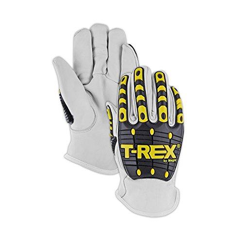 Magid Safety T-REX TRX840L Impact Glove   Kevlar-Lined Premium Grain Goatskin Leather Driver Style Impact Glove - Cut Level 4, Punction Level 5, Abrasion Level 4, Large (1 Pair)