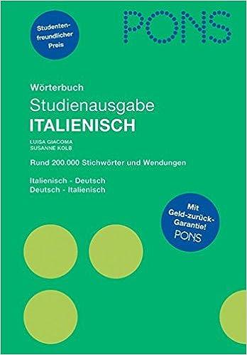 Pons Wörterbuch Studienausgabe Italienisch Für Schule Und Studium