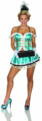 Delicious Cigars Cigarettes Girl Costume, Blue, Medium