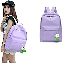 [Sponsored]Lightweight Luggage Backpack Casual Daypack School Bag for Women Girl (Light Purple)