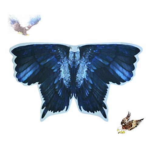 Kids Bird Wings Eagle Costumes for Boys Girls Animal Fancy Dress-Up Feathered Cosplay Party Favors ()