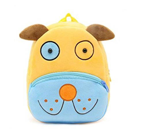 Cute Toddler Backpack Toddler Bag Plush Animal Cartoon Mini Travel Bag for Baby Girl Boy 1-6 Years (Dog)