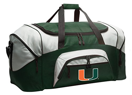 Miami Canes Duffle Bag University of Miami Gym Bag Large UM Travel Bag by Broad Bay