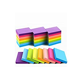 (24 Pack) Sticky Notes 1.5×2 Inches, Bright Colors Self-Stick Pads,75 Sheets/Pad