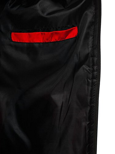 Motivo Hombre Cuello De Cierre Deportivo Chaqueta Bomber 4D4 Elevado Estilo Cremallera BOLF Rojo aUqfxPdP