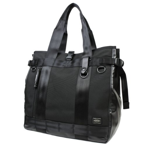 Yoshida Bag Porter Heat Tote Bag Vertical Type Black 703-06971 848955ef6efe7