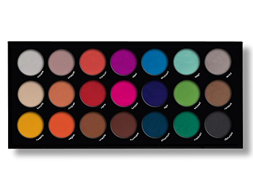 21 Highly Pigmented Professional Eyeshadow Palette Eye Shadow Makeup Kit Set Pro Palette High-end Formula (Matte)