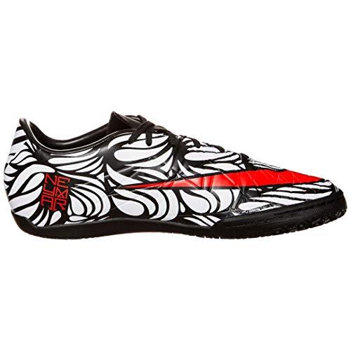 Nike Kids Jr Hypervenom Phelon II NJR IC Indoor Soccer Shoe (10C) Black, White (Nike Black And White Indoor Soccer Shoes)