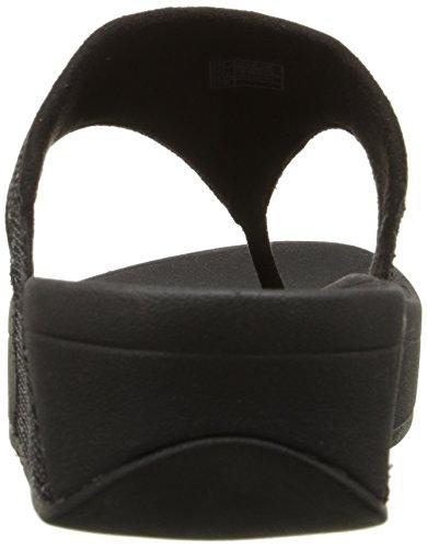 Textil de Negro Superglitz FitFlop de Sandalias Mujer La Lulu ZvSB0qwC