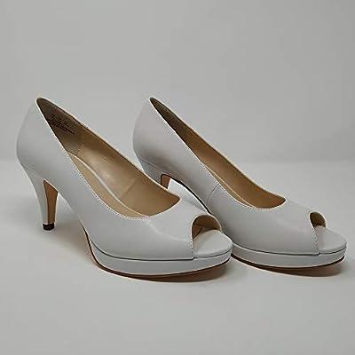 JENN ARDOR Women's Ladies Classic Mid Heel Round Peep Toe Pumps Dress Party Slip On Sandals Platform Comfort Heels