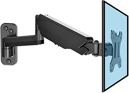 HUANUO 13-32 Inch Monitor Wall Mount Bracket with VESA Extension Kit for Computer/TV Screens, Full Adjustable Gas
