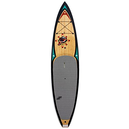 Boardworks TECV Raven Wood/Black/White Paddle Board Equipment, 11'6'' by Boardworks