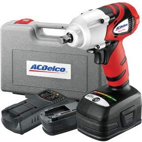 ACDelco VALUE PACK Impact Wrench Kit 3/8'' 20V 2.0 Ah. Built in LED Light, Variable Speed, Set with 2 battery, battery charger, (Best Acdelco Impact Guns)