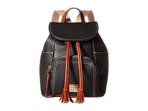 Leather Bourke (Dooney & Bourke Pebble Grain Medium Murphy Leather Backpack (Black))
