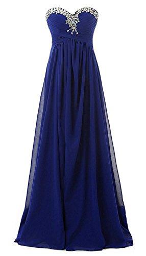 Abschlussball kleider dunkelblau lang