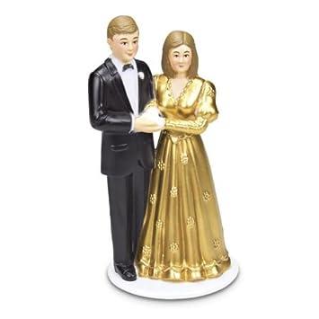 Tortenfigur Brautpaar Goldene Hochzeit Amazonde Küche