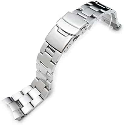 22mm Super Oyster II Watch Bracelet for Seiko Diver Skx007/009/011 Curved End