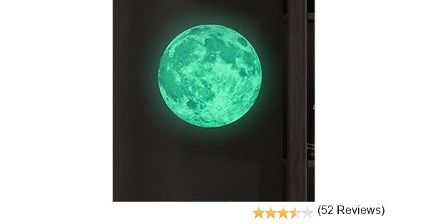 Lookout pared pegatinas brilla en la oscuridad luna extraíble ...