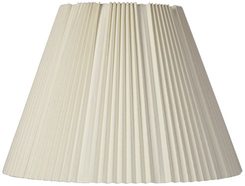 Pleated Lamp Shades - Eggshell Pleated Lamp Shade 9x17x12.25 (Spider)
