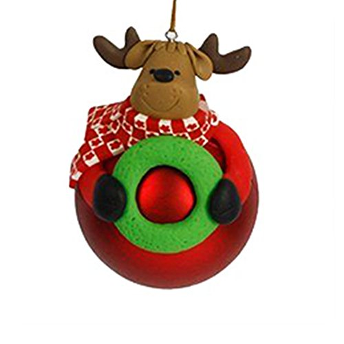 Kicode Christmas Tree Hanging Ball Bear Santa Claus Snowman Deer Cartoon Party Festival Xmas Home Decor Ornament