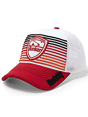 69b0c85e202 Image Unavailable. Image not available for. Color  Bunker Mentality Golf  Signature Stripe Basecall Cap ...