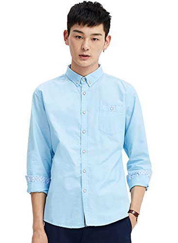 meters-bonwe-mens-solid-color-button-down-long-sleeve-shirt-sky-blue-xl