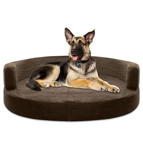 KOPEKS-Deluxe-Orthopedic-Memory-Foam-Round-Sofa-Lounge-Dog-Bed