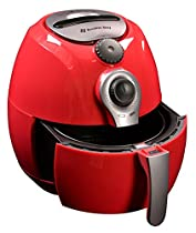 Avalon Bay Air Fryer, For Healthy Oil-Less Fried Food, 3.7 Quart Capacity, Includes Free Airfryer Baking Set, Red, AB-Airfryer100R