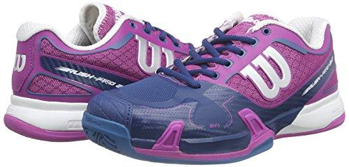 0 Mehrfarbig Pro Chaussures Red W Clay 4 W Neon f Peony Tennis Wilson Femme Court Multicolore De dark Rush 2 qT87xnpt5