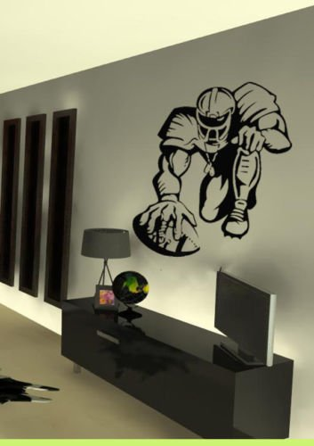 Cheap  Vinyl Wall Art Decal Sticker Football Hike NFL Football Player Kid Room..
