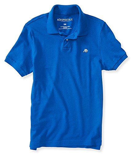 Aeropostale Men's A87 Solid Logo Piqu Polo Shirt 2Xl Teal