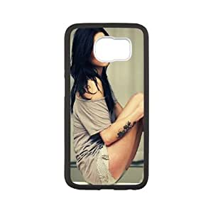Beautiful Sexy Girl Forearm Tattoo Samsung Galaxy S6 Cell Phone Case White phone component AU_588429
