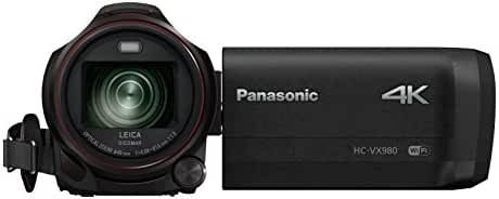 Panasonic HC-VX981K Ultra HD Camcorder with Wi-Fi Twin Camera and 4K Photo Features (Black)