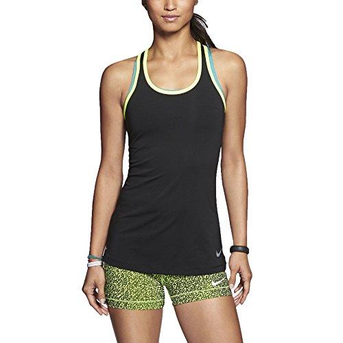 Nike Women's Dri-Fit Pro Hypercool Training Tank Top-Black/Volt-Small