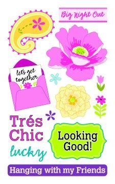(Tres Chic Rub-ons for Scrapbooking (RO1083))