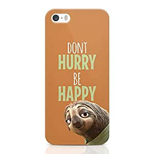 Loud Universe Dony Hurry Zootopia Funny iPhone 5 / 5s Case Zootopia Sloth iPhone 5 / 5s Cover with 3d Wrap around Edges
