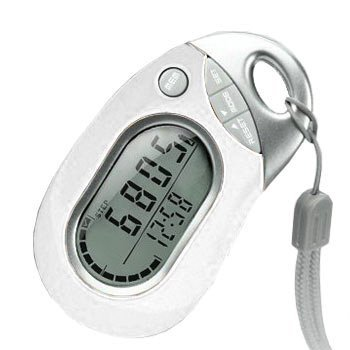 Pedusa PE-771 Tri-Axis Multi-Function Pocket Pedometer (White with Holster/Be.