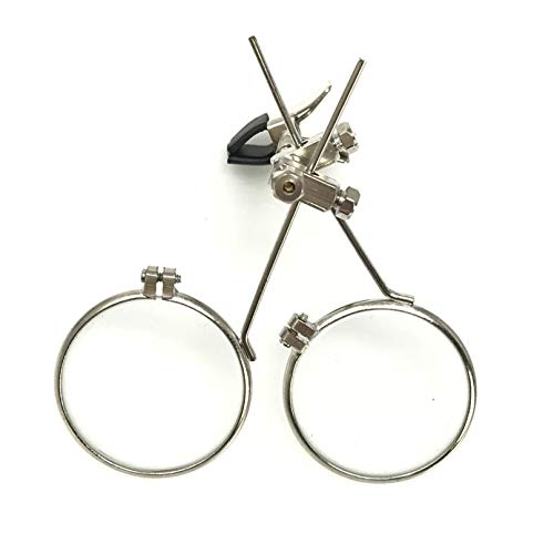 Jewelry Making Tool Double Eye loupe Clip on Magnifier for Steampunk Goggles Glasses