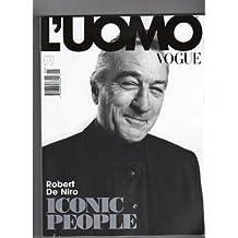 Amazon luomo vogue magazine books luomo vogue no397 january 2009 robert de niro iconic people fandeluxe Choice Image