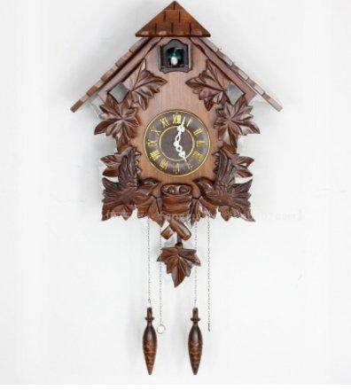 Relojes de cuco antiguos relojes de cuco hechos a mano madera maciza tallada pared reloj-