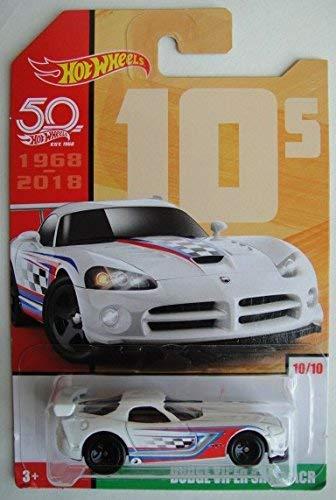 (Hot Wheels 10s, WHITE DODGE VIPER SRT10 ACR 10/10 50TH ANNIVERSARY)