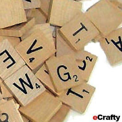 Scrabble Azulejos Mixed Vintage madera letras 10pc: Amazon.es: Juguetes y juegos